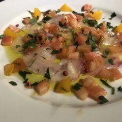 真鯛の昆布締カルパッチョ
